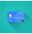 Credit card Flat design vector image