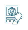 cv analysis linear icon concept cv analysis line vector image