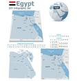 Egypt maps with markers vector image