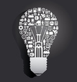 Elements are small icons make in Light bulb vector image vector image