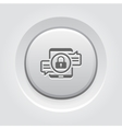 Encrypted Messaging Icon Grey Button Design