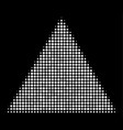 filled triangle halftone icon vector image