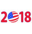 flag 2018 lettering vector image