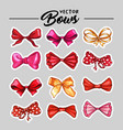 gift bow stickers or patch hand drawn vector image vector image