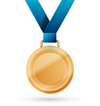 gold medal vector image