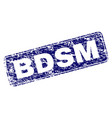 grunge bdsm framed rounded rectangle stamp vector image vector image