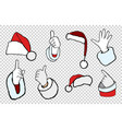 hands of santa claus vector image
