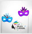 happy brazilian carnival festival carnival poster vector image