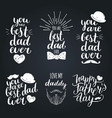 happy fathers day vintage logotypes set vector image vector image