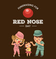 happy red nose day mother brought her daughter to vector image vector image