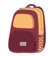 haversack object colorful close backpack vector image