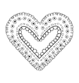 heart love romantic isolated icon vector image vector image