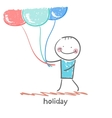 holiday with balloons vector image vector image