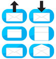 Inbox outgoing emails icon set vector image