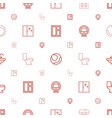 indoor icons pattern seamless white background vector image vector image