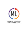 Initial letter ml creative circle logo design