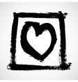 Ink drawing of a heart vector image vector image