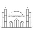 islam mosque icon outline style vector image vector image
