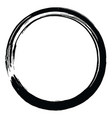 japanese enso zen brush circle vector image vector image