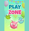 kids zone banner concept play zone vector image
