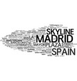madrid word cloud concept vector image vector image