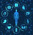 medical health care human organs virtual body hi vector image vector image