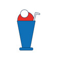 milkshake drink icon vector image vector image