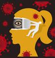 open your eyes underestimating risk coronavirus vector image vector image