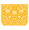 papel picado floral design with birds vector image vector image