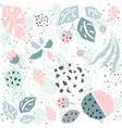 pattern with geometrically shaped plants vector image