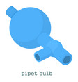 pipet bulb icon cartoon style vector image vector image