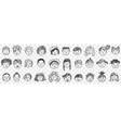 portraits hand drawn doodle set vector image vector image
