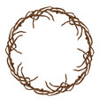 round wreath branches vector image vector image