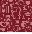 Seamless background from letters I love you vector image vector image