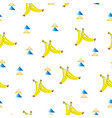 seamless pattern with bananas - exotic summer them vector image