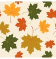 Seamless with autumn maple leaves