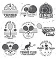 set of paddle tennis and tennis badge emblem or vector image vector image
