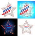 set to russian national holiday 23 february vector image vector image