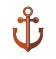 simple rusty anchor vector image vector image