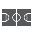 soccer field glyph icon sport and football vector image vector image