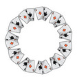 spades diamonds suits french playing cards in vector image vector image