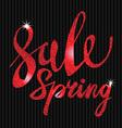 Spring Sale red inscription paint glitz glamor vector image vector image