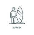 surfer line icon linear concept outline vector image