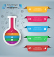 test tube - business infographic five color items vector image