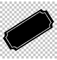 Ticket sign Flat style black icon on vector image vector image