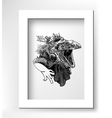 unusual original artwork of iguana lizard with vector image