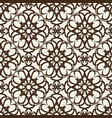 vintage seamless pattern in baroque style vector image