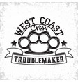 vintage troublemakers emblem vector image