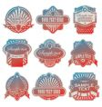vintage USA labels vector image vector image