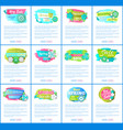 web pages sale advertisements templates vector image